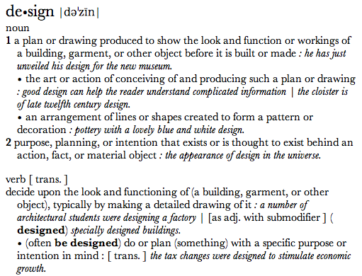 Design dictionary